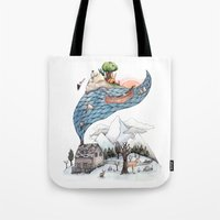 camus Tote Bags featuring Invincible Summer by Brooke Weeber
