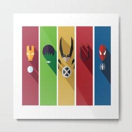 Superheros No. 11-15 Metal Print