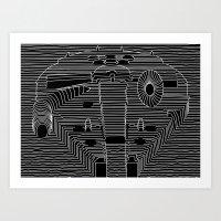millenium falcon Art Prints featuring Millenium division by BomDesignz