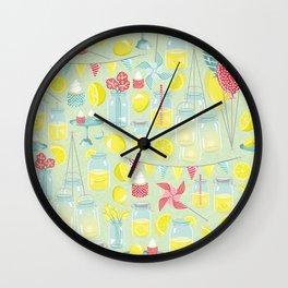 Lemonade Party Wall Clock