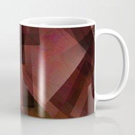 Sunburnt Red Orange - Digital Geometric Texture Coffee Mug