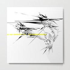 Holy Weapon // (Glitch Owl) Metal Print