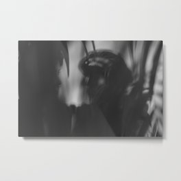 Black and white shadows, woman and man Metal Print