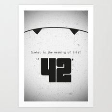 The Hitchhiker's Guide to the Galaxy Art Print