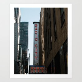 Radio City Music Hall, New York City Art Print