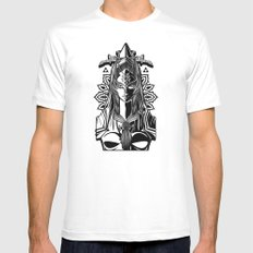 Legend of Zelda Midna the Twilight Princess Line Work LARGE White Mens Fitted Tee