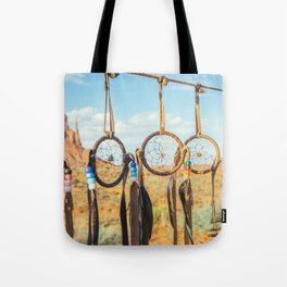 Jew's harp. Monument Valley Tote Bag
