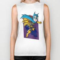 batgirl Biker Tanks featuring Batgirl! by neicosta