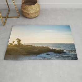 San Diego Beach Sunset Landscape in La Jolla Rug