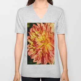 Radiant Orange Unisex V-Neck