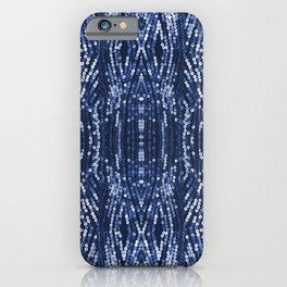 197 - Blue Sequins abstract design iPhone Case