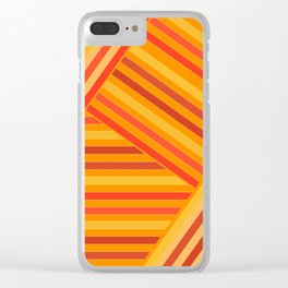 Orange - yellow stripes Clear iPhone Case