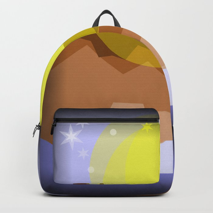 Midnight magical mountain Backpack