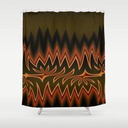 Fractal Tribal Art in Autumn Shower Curtain