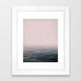 Misty sea Framed Art Print