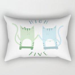 Traveling Tabbies: High Five Rectangular Pillow