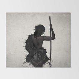 Female Samurai - Onna Bugeisha Throw Blanket