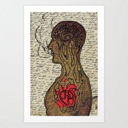 Heart Cooks Brain Art Print