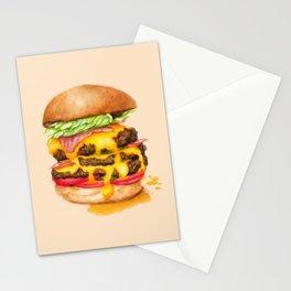 Juicy Cheeseburger Stationery Cards