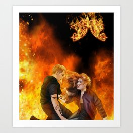 Clace heavenly fire Art Print