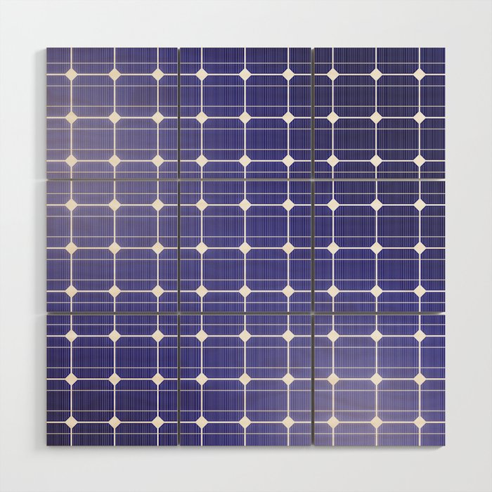 Solar Panel Wall >> In Charge 3d Render Of Solar Panel Texture Wood Wall Art By