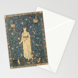 William Morris & Edward Burne-Jones - Tapestry - Flora (1885) Stationery Cards