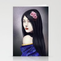 geisha Stationery Cards featuring Geisha by Gosia