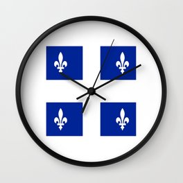 Flag of Quebec Wall Clock