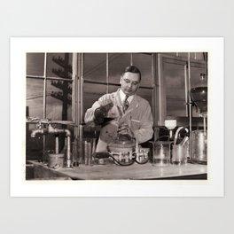 GRANDPA WHYTE THE CHEMIST Art Print