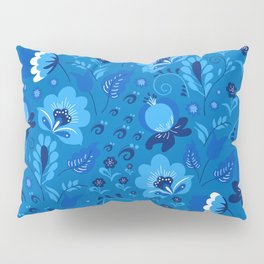 Gzhel - blue Pillow Sham