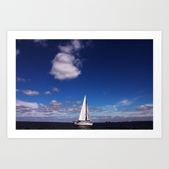 Blue Sky over the Bay Art Print