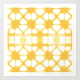 Shibori Ahi Yellow Art Print