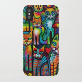 Owl and Pussicats iPhone Case