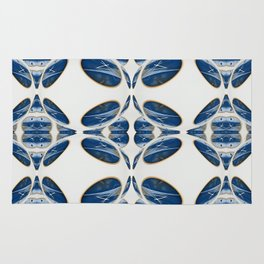 Snowblue Clock Pattern 1 Rug