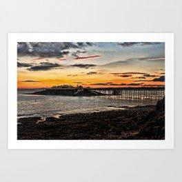 Birnbeck Pier and island Weston-super-Mare Art Print