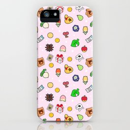 ac cute pattern pink iPhone Case