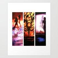 mass effect Art Prints featuring Mass Effect by Vaahlkult