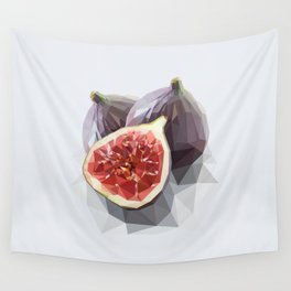 Polygon Fig Style - Low Poly Wall Tapestry
