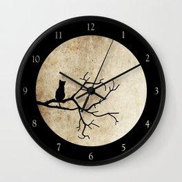 Cat Night Wall Clock