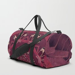 Leather and love in a safe environment pop art Duffle Bag