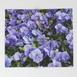 Pansy flower Throw Blanket