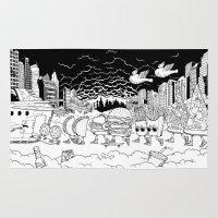 spaceship Area & Throw Rugs featuring Noah's Spaceship by eyeeye