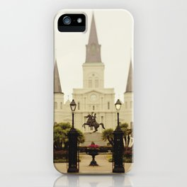 New Orleans Looking Through Jackson Square iPhone Case