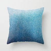 fabric Throw Pillows featuring Fabric by Anna Berthier
