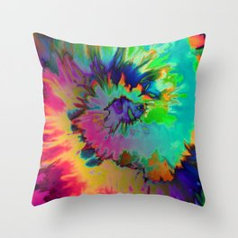 Inhale: A pretty minimal piece with bits of pinks, blues, greens, and yellows to your hearts content Throw Pillow