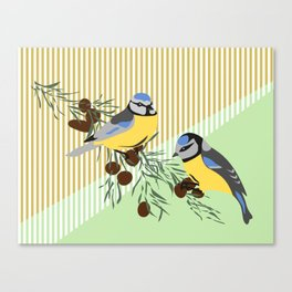 two birds in harmonie Canvas Print