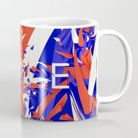 france Mugs featuring France by Danny Ivan