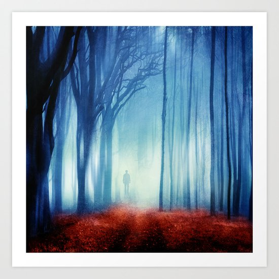 In The Mist she Was Standing Art Print