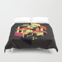 literary Duvet Covers featuring Utopia in Six or Seven Colors by John Magnet Bell