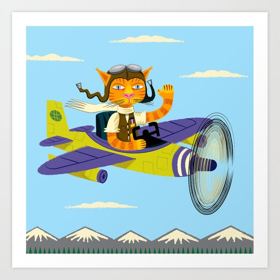 Tibbles Learns To Fly Art Print